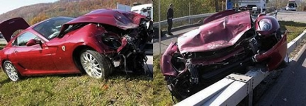 Fiat CEO crashes Ferrari 599 GTB