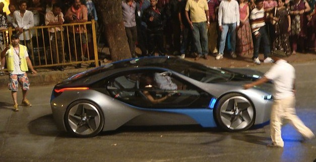 bmw i8 spotted in mumbai during mission impossible 4. Black Bedroom Furniture Sets. Home Design Ideas