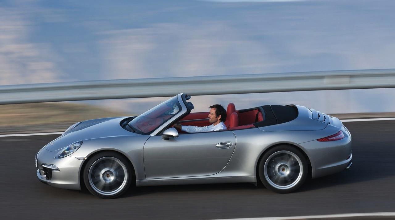 2012 Porsche 911 Carrera Cabriolet Side Action View