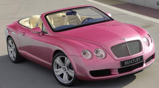 Bentley Continental GTC Pink