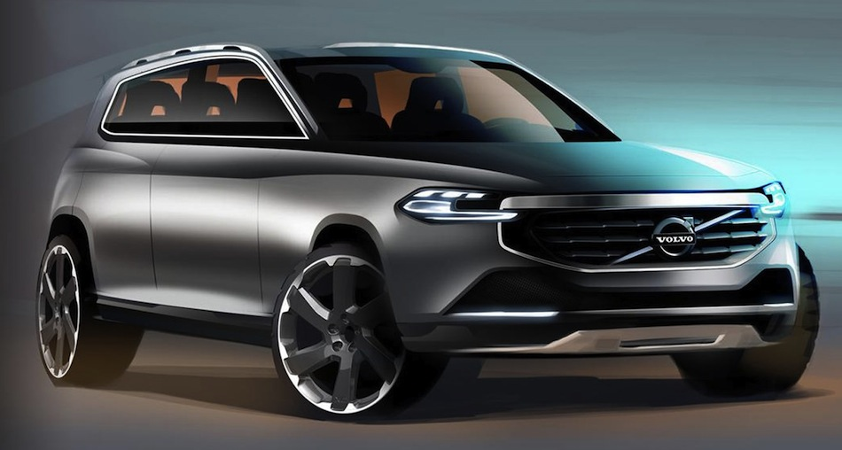 Volvo XC90 Sketch Front 3/4 View