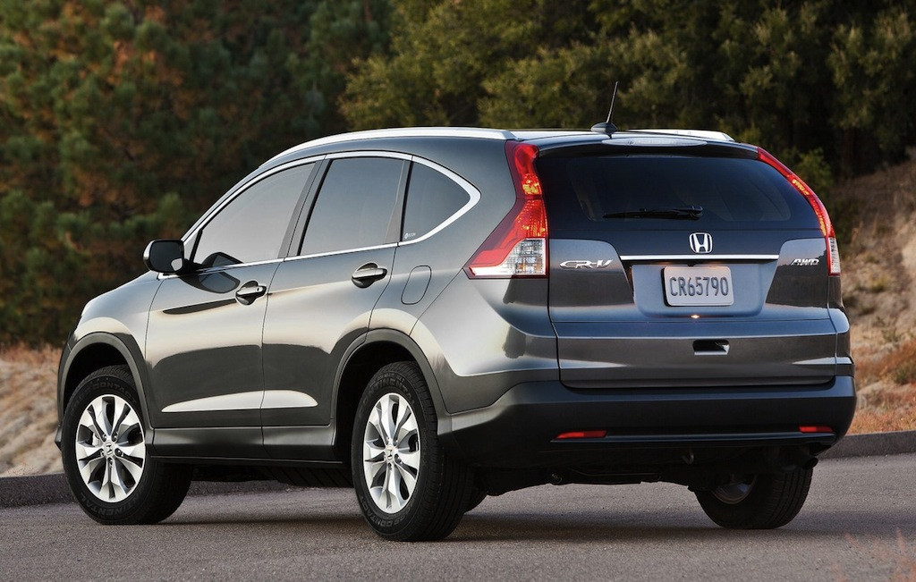 2012 Honda CR-V Rear 3/4 Angle (Gray)