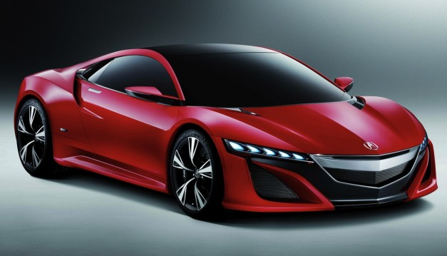 Acura NSX Concept Front 3/4 View Red