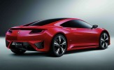 Acura NSX Concept Rear 7/8 View Red