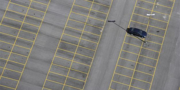 Car In Parking Lot b