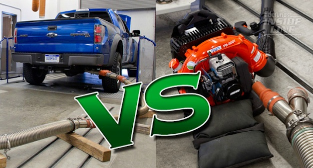 Ford F150 Raptor vs. Leaf Blower