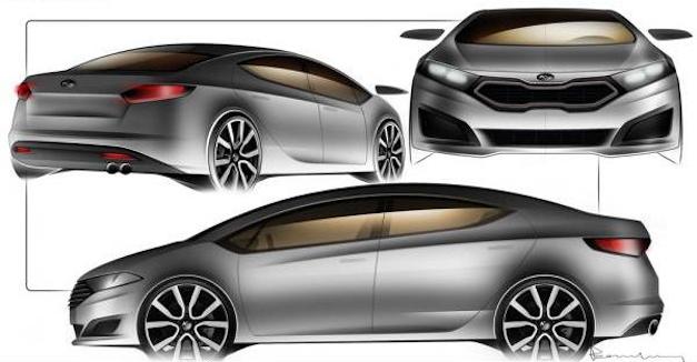 Kia Forte Sedan Sketch