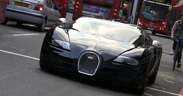Bugatti Veyron Super Sport on the Road