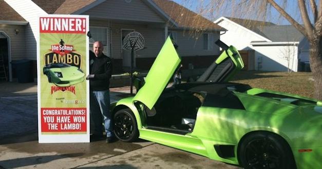 Man wins Lamborghini Murcielago Roadster