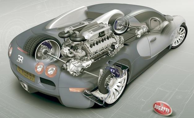 2011 Bugatti Veyron Cutaway