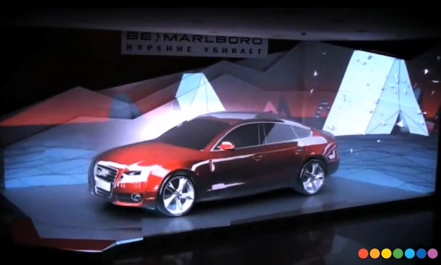2012 Audi and Marlboro Projection Mapping Video: Can an Audi be a projection screen?