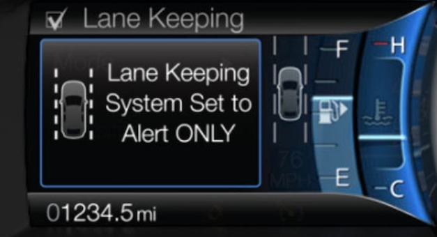 2013 Ford Fusion Lane Departure
