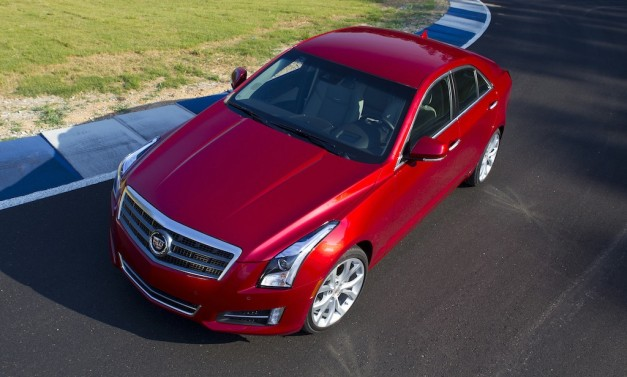 2013 Cadillac ATS (Red) Top View