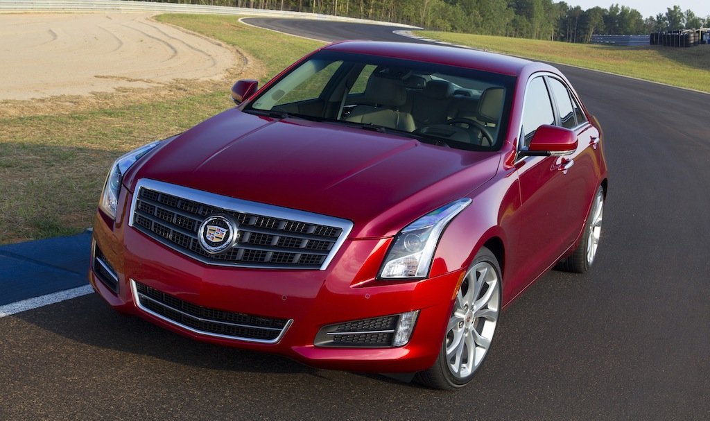2013 Cadillac ATS (Red) Front 3/4 View