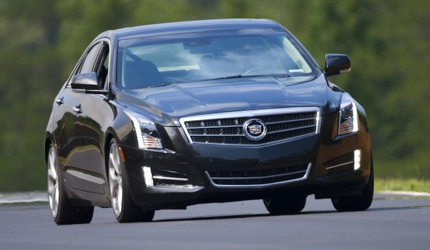 2013 Cadillac ATS (Black) Front Quarter View