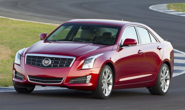 2013 Cadillac ATS (Red) Front 7/8 View