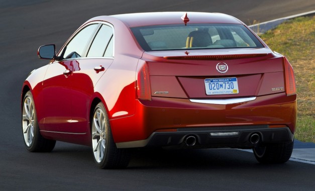 2013 Cadillac ATS (Red) Rear 3/4 View
