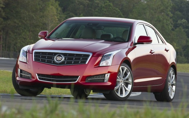 2013 Cadillac ATS (Red) Front Quarter Angle