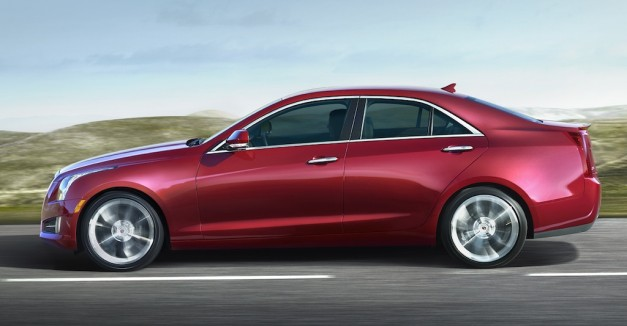 2013 Cadillac ATS (Red) Side Angle