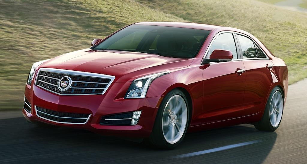 2013 Cadillac ATS (Red) Action Angle