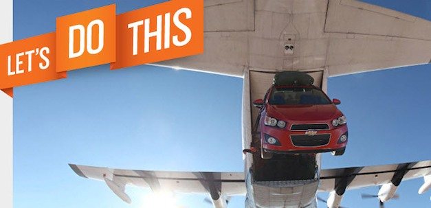 Chevrolet Sonic Skydiving