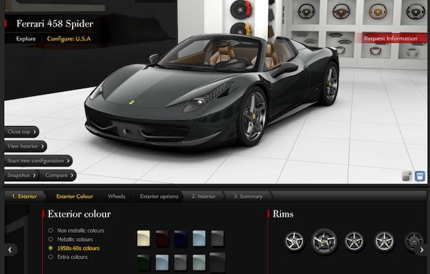 Ferrari build your own