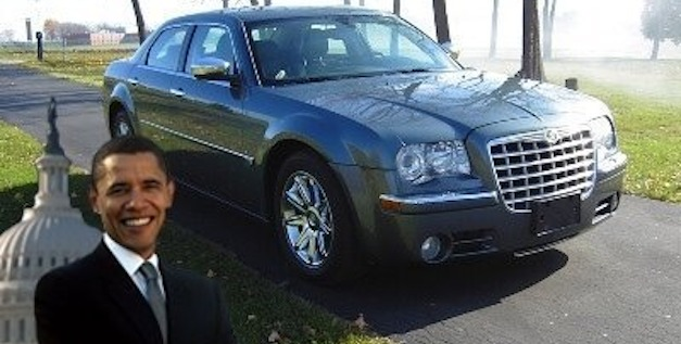 obama chrysler300 Obama's Chrysler 300 on sale for $1 million