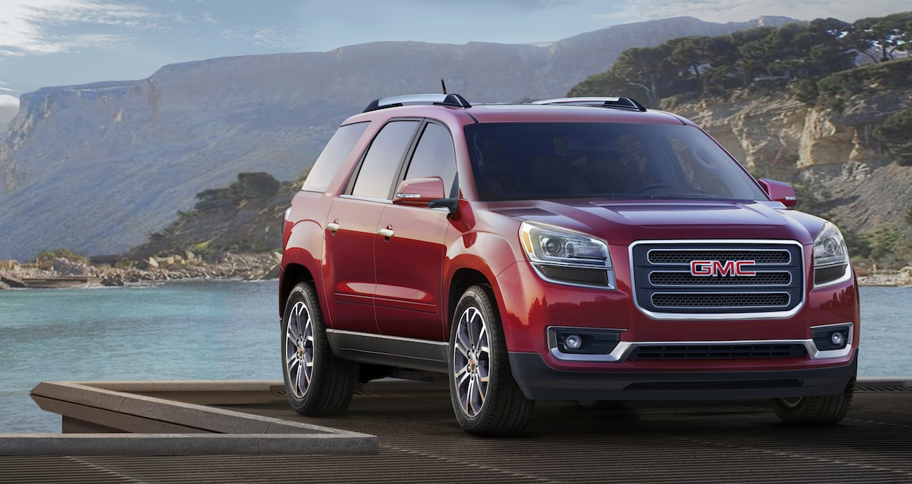 2013 gmc acadia gets totally redesigned inside out keeps its 288 hp 3 6l v6 egmcartech. Black Bedroom Furniture Sets. Home Design Ideas
