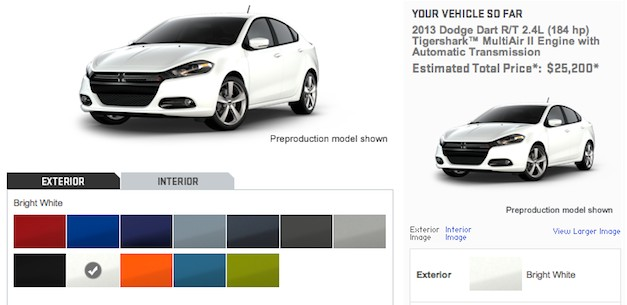Build Your Own 2013 Dodge Dart