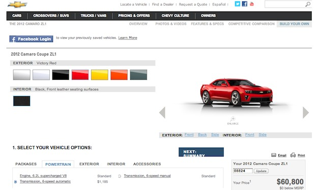 build your own 2012 chevrolet camaro zl1 egmcartech. Cars Review. Best American Auto & Cars Review