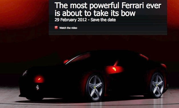 ferrarif620gtteaser Video: Most powerful Ferrari ever teased, will debut Feb. 29