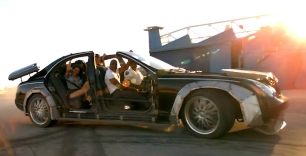 Video Jay Z Kanye West Chop The Top On A Maybach In