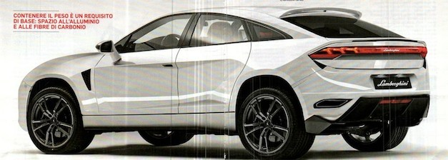 lamborghinisuvback concept leak Report: Lamborghini SUV confirmed, concept to debut in April