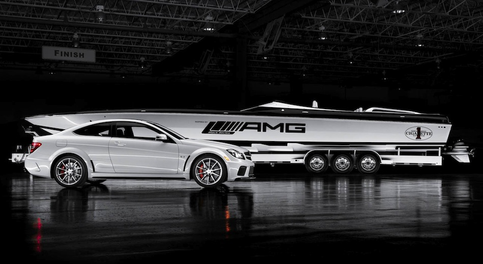 Mercedes-Benz C63 AMG Coupe Black Series Cigarette Boat