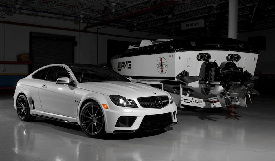mercedes benz c63 amg coupe black series cigarette boat - Mercedes Benz C63 Amg Black Series White