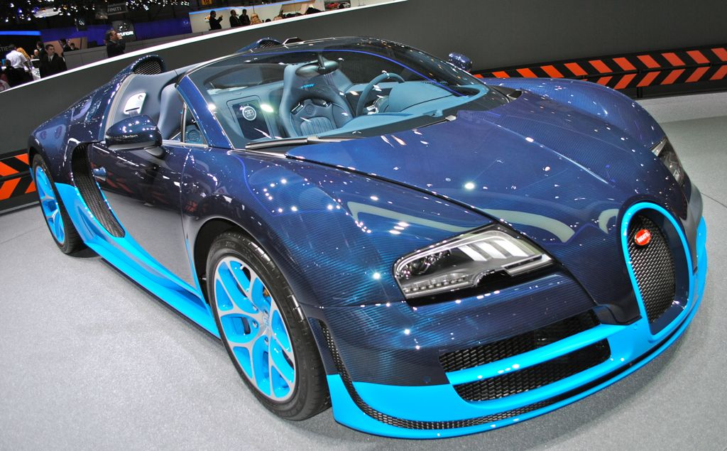 Blue Sport Vitesse Bugatti Veyron Side View - Bing images
