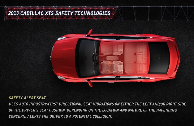 Cadillac ATS, XTS get range of safety technologies, introduce seat vibrations alert
