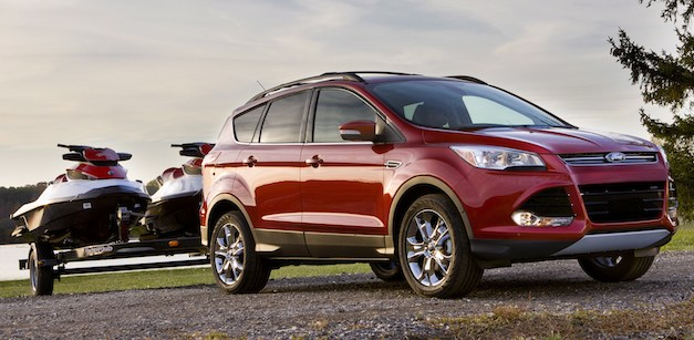 2013 ford escape with 2 0 liter ecoboost can tow up to. Black Bedroom Furniture Sets. Home Design Ideas