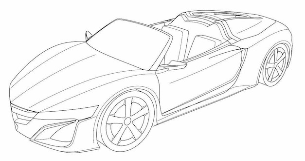 Acura NSX Convertible Sketch