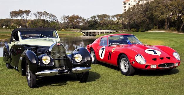 1938 Bugatti Type 57, 1962 Ferrari 330 LM