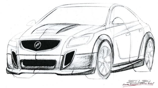 SLP GNX - Buick Regal GS Rendering