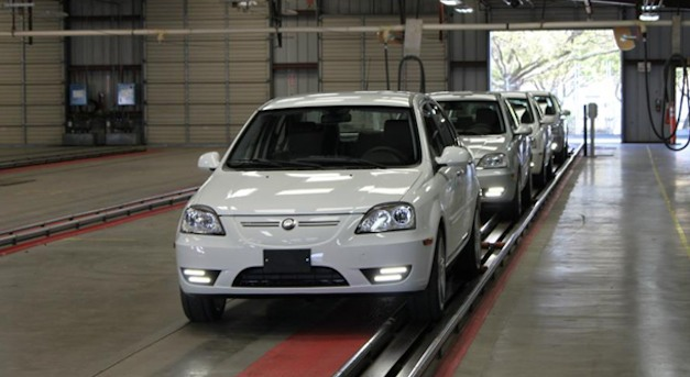 First Coda electric sedan rolls off the assembly line, ready for sale