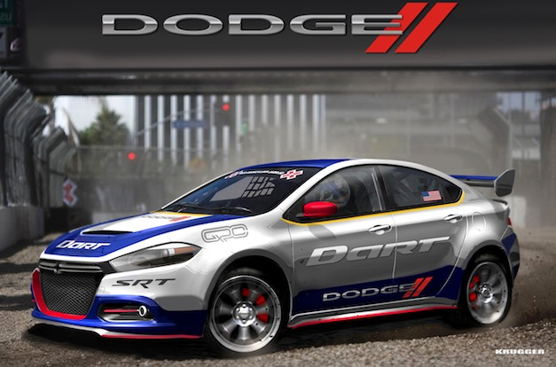 2013 Dodge Dart Rally Car makes its debut, Travis Pastrana to drive it at 2012 GRC Series