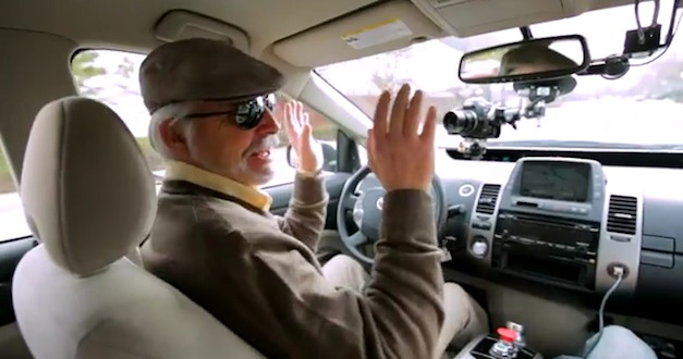 googleselfdrivingcar Video: Google self driving car drives blind man around public roads
