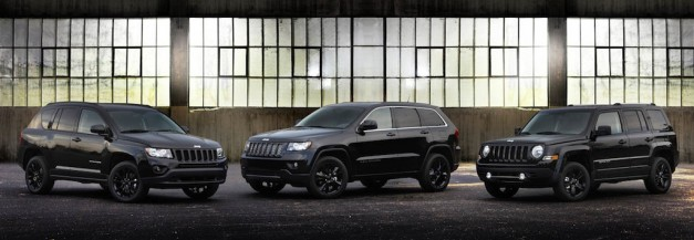 Jeep introduces murdered-out limited-edition Altitude Grand Cherokee, Compass, Patriot