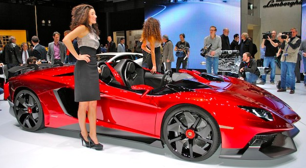 Lamborghini Aventador J gets brand a lot of unneeded exposure after Geneva debut
