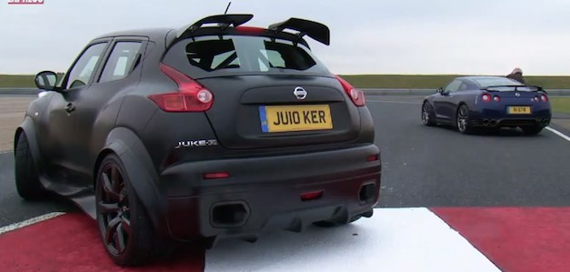 Nissan Juke-R vs. the Nissan GT-R