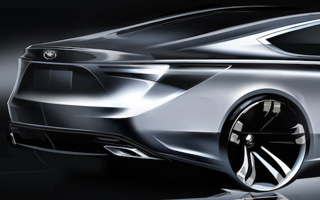 Toyota Sedan Teaser for 2012 NY Auto Show