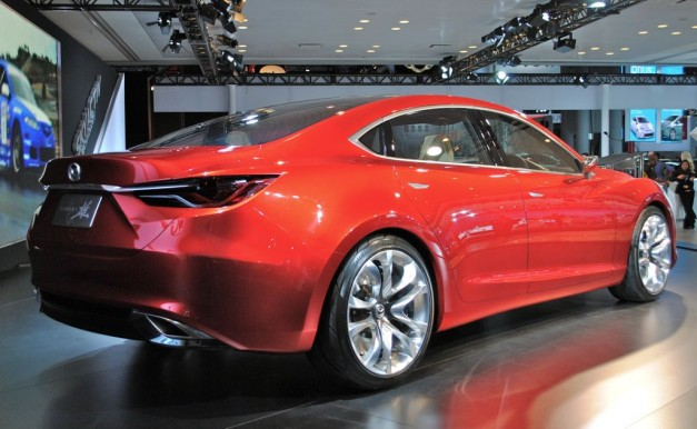2012 NY Mazda Takeri Concept Rear 3:4