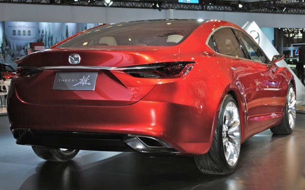 2012 NY Mazda Takeri Concept Rear 3/4 Right